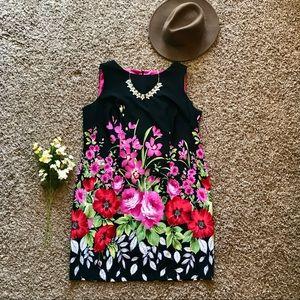 Calvin Klein Floral Hem Shift Dress